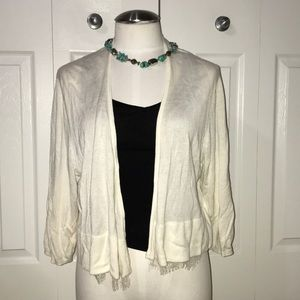 Tommy Hilfiger lace detail white cardigan xl